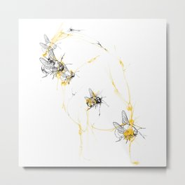 Covered in bees Metal Print