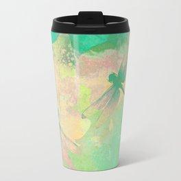 Green Painting Dragonflies Travel Mug