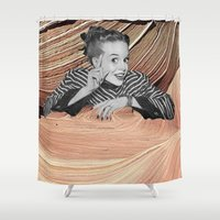 desert Shower Curtains featuring Desert by Mrs Araneae