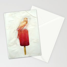 Strawberry Canary Popsicle Stationery Cards