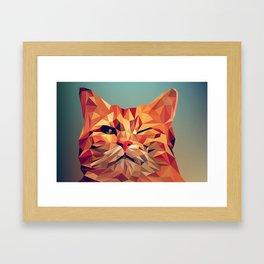 Geometric cat 2 Framed Art Print