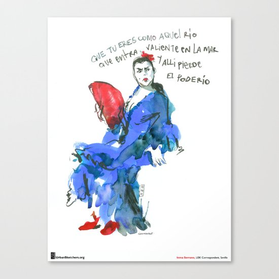 "Inma Serrano, ""Abanico"" Canvas Print"