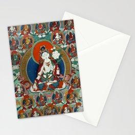 Buddist Art - Thangka with White Tara Stationery Cards