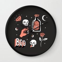 Skeleton Spooky Boye Wall Clock