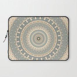 Delicate Sea-foam  Mandala Laptop Sleeve