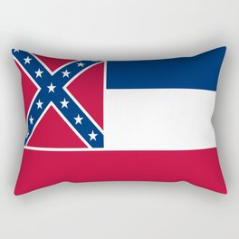 Flag of mississippi-flag of mississippi,south,Mississippian,usa, america,jackson,gulfport,Southaven Rectangular Pillow
