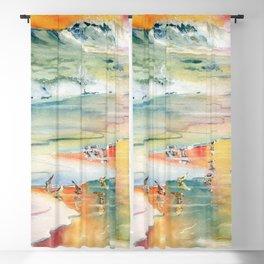 Shoreline Watercolor Blackout Curtain