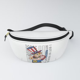 Funny Uncle Sam 99 Problems Freedom USA 4th of July Gift Fanny Pack