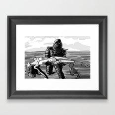 Black Lagoon (B&W)... Framed Art Print