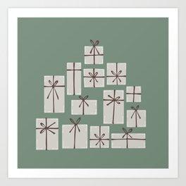 Gift box pile  Art Print