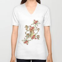 romantic V-neck T-shirts featuring romantic by mark ashkenazi
