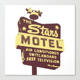 Seeing Stars ... Motel ... (Brown/Yellow Sign) Canvas Print