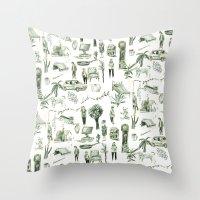 wallpaper Throw Pillows featuring Wallpaper by Bridie Cheeseman