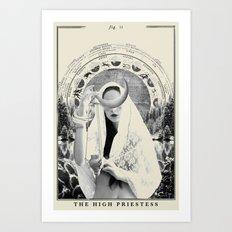 Fig. II - The High Priestess Art Print