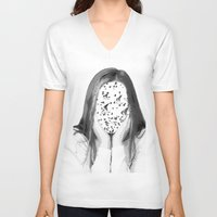 dreamer V-neck T-shirts featuring Dreamer by infloence