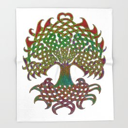 Celtic Knot Tree of Life Throw Blanket