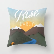 Rise Early Throw Pillow