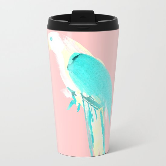Summer Parrot Metal Travel Mug