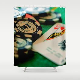 Casino Chips & Cards Shower Curtain