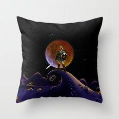 Nightmare Halloween Zelda Link  Throw Pillow