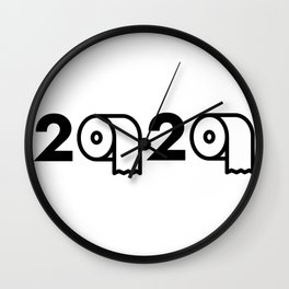 2020 Toilet Paper Shortage Meme Wall Clock