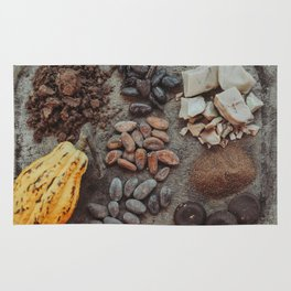 Cacao, beans, chocolate Rug