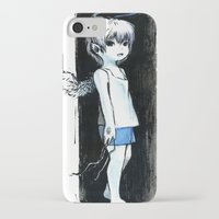 child iPhone & iPod Cases featuring Child by Vagelio