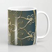 nemo Mugs featuring Golden Nemo Pattern by Britta Glodde