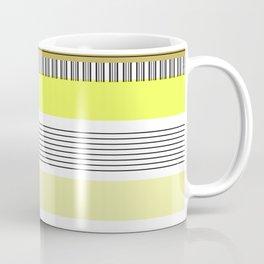 Yellow Mixed Pattern Color blocking Striped Coffee Mug