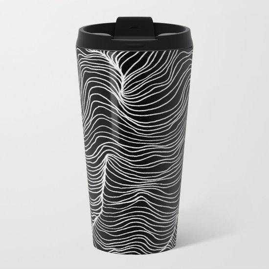 Inverted Waves Metal Travel Mug