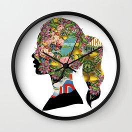 Flowery Girl Wall Clock