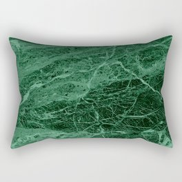 Dark emerald marble texture Rectangular Pillow