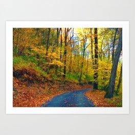 Autumn in Pennsylvania Art Print