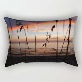 Sunset Sea Grass Rectangular Pillow