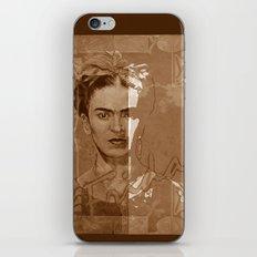 Frida Kahlo - between worlds - sepia iPhone & iPod Skin