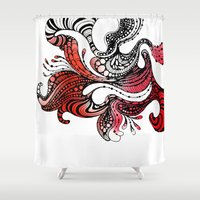 carnival Shower Curtains featuring Carnival by Lena Sokol