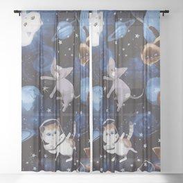 Cat Space Sheer Curtain