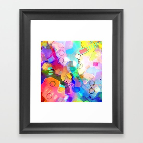Fall Into Color Framed Art Print