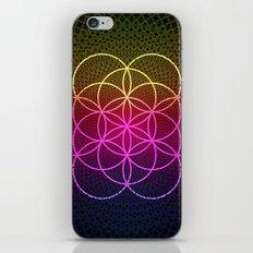 Sacred Rainbow Flower of Life iPhone Skin