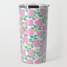 Hibiscus and Plumeria Travel Mug