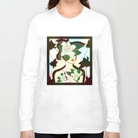window Long Sleeve T-shirts featuring WINDOW by Bluetiz