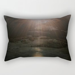 Aerial of a Lone Tree at the Alpe di Siusi Dolomites - Landscape Photography Rectangular Pillow