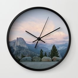 Half Dome at Sunset Wall Clock