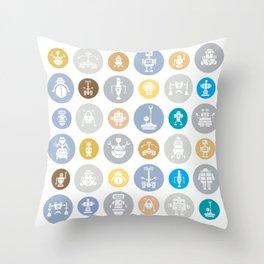 Robot Invasion Throw Pillow