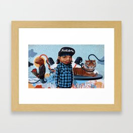 Hu's feeling of loss is lifting Framed Art Print