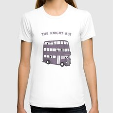 The Knight Bus White Womens Fitted Tee SMALL