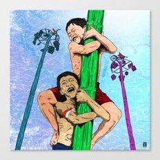 Panjat Pinang Canvas Print