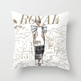 Hanna Royal Throw Pillow