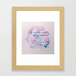 watercolor john mayer lyric Framed Art Print