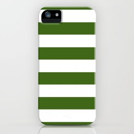 Simply Stripes in Jungle Green iPhone Case